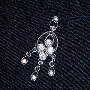 Jewelry - Beautiful Gypsy Necklace Silvertone & Rhinestones